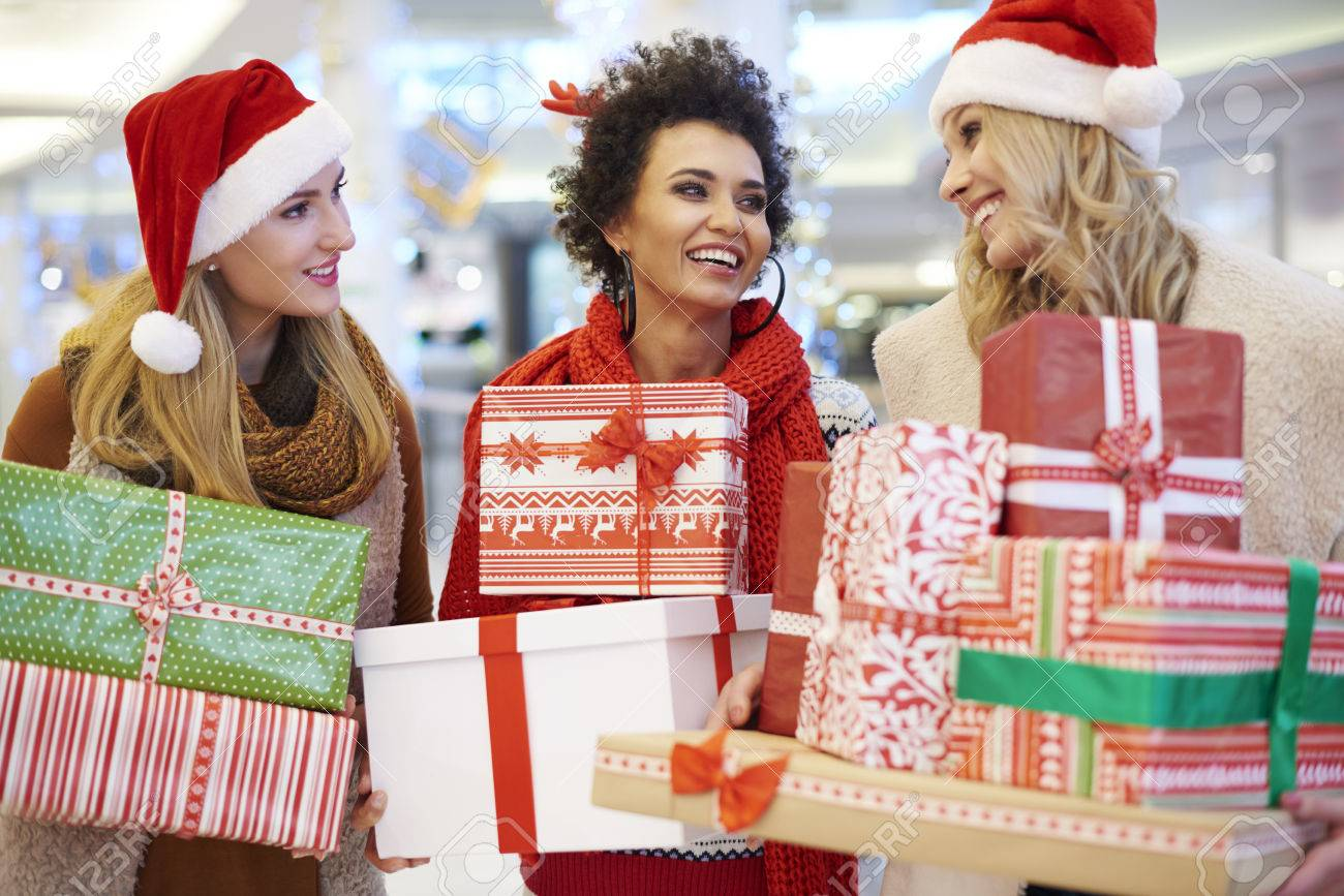 Shopping mall as a good place for Christmas shopping Stock Photo - 49194802