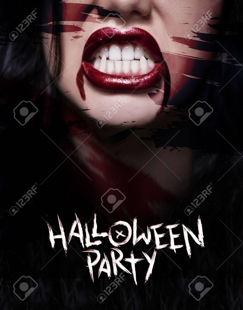 Scary poster with creepy face - 79809439