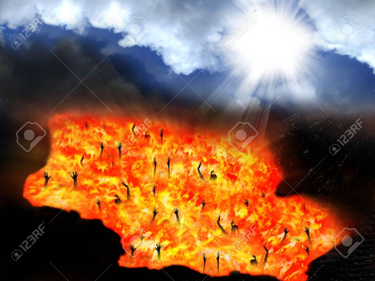 Heaven and Hell Stock Photo - 18436657