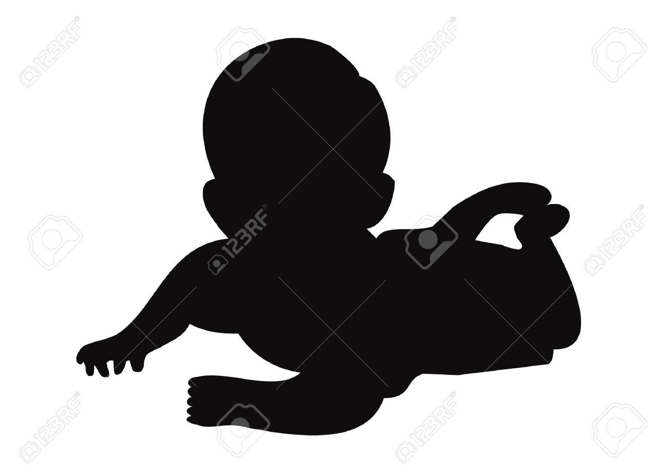 Baby silhouette Stock Vector - 18688451