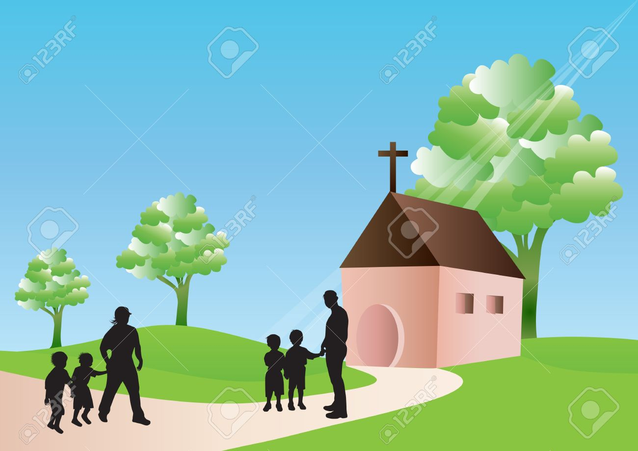 Going to church Stock Vector - 19491748