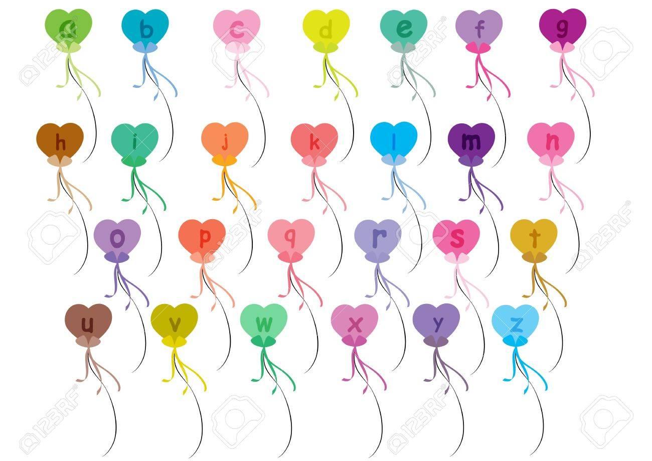 Alphabet balloons set a-z Stock Vector - 20690335