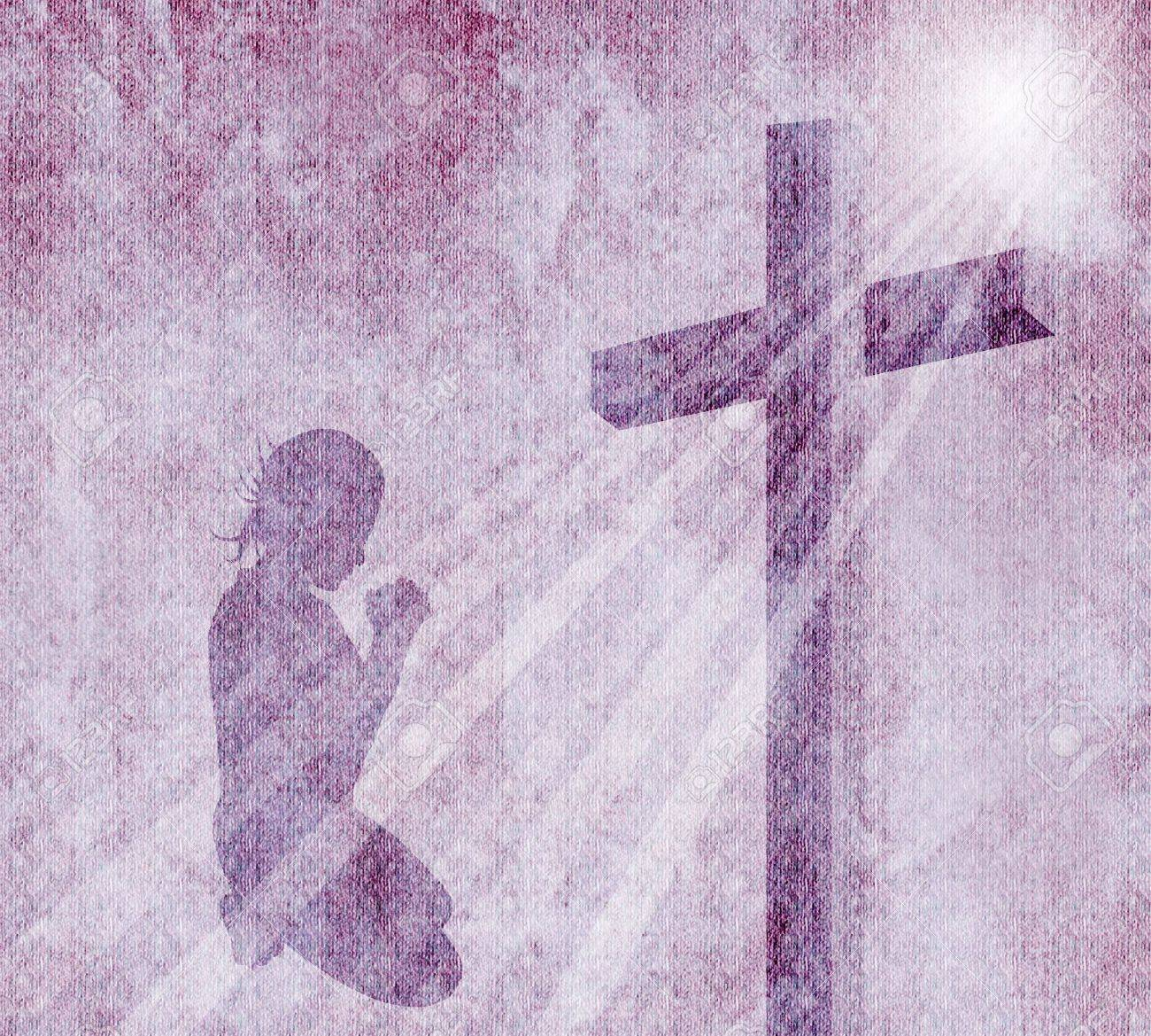 cross on vintage background Stock Photo - 21483572
