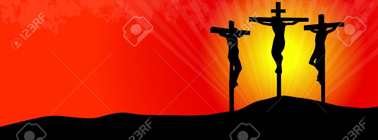 Crucifixion of christ -facebook cover Stock Vector - 21483597