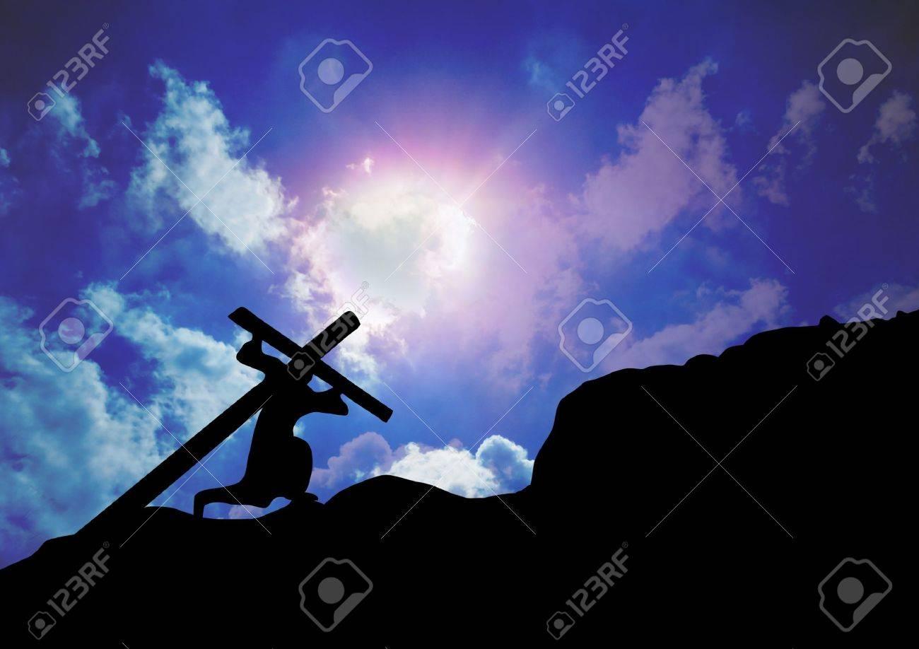 Jesus Christ Carrying Cross Stock Photo - 21483618