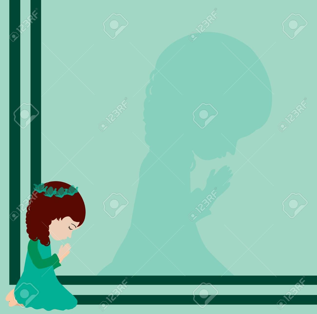 little girl praying Stock Vector - 21483652
