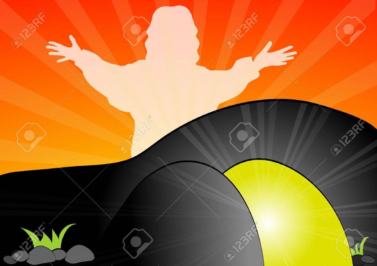 Jesus Christ is risen Stock Vector - 21811484