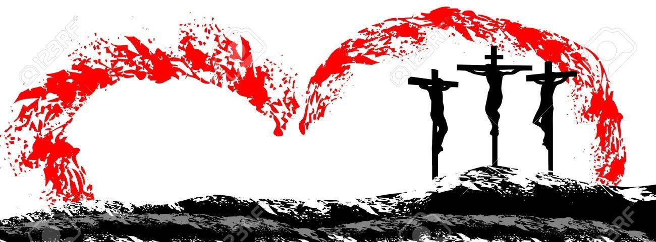 Jesus Christ on cross Stock Vector - 22032730