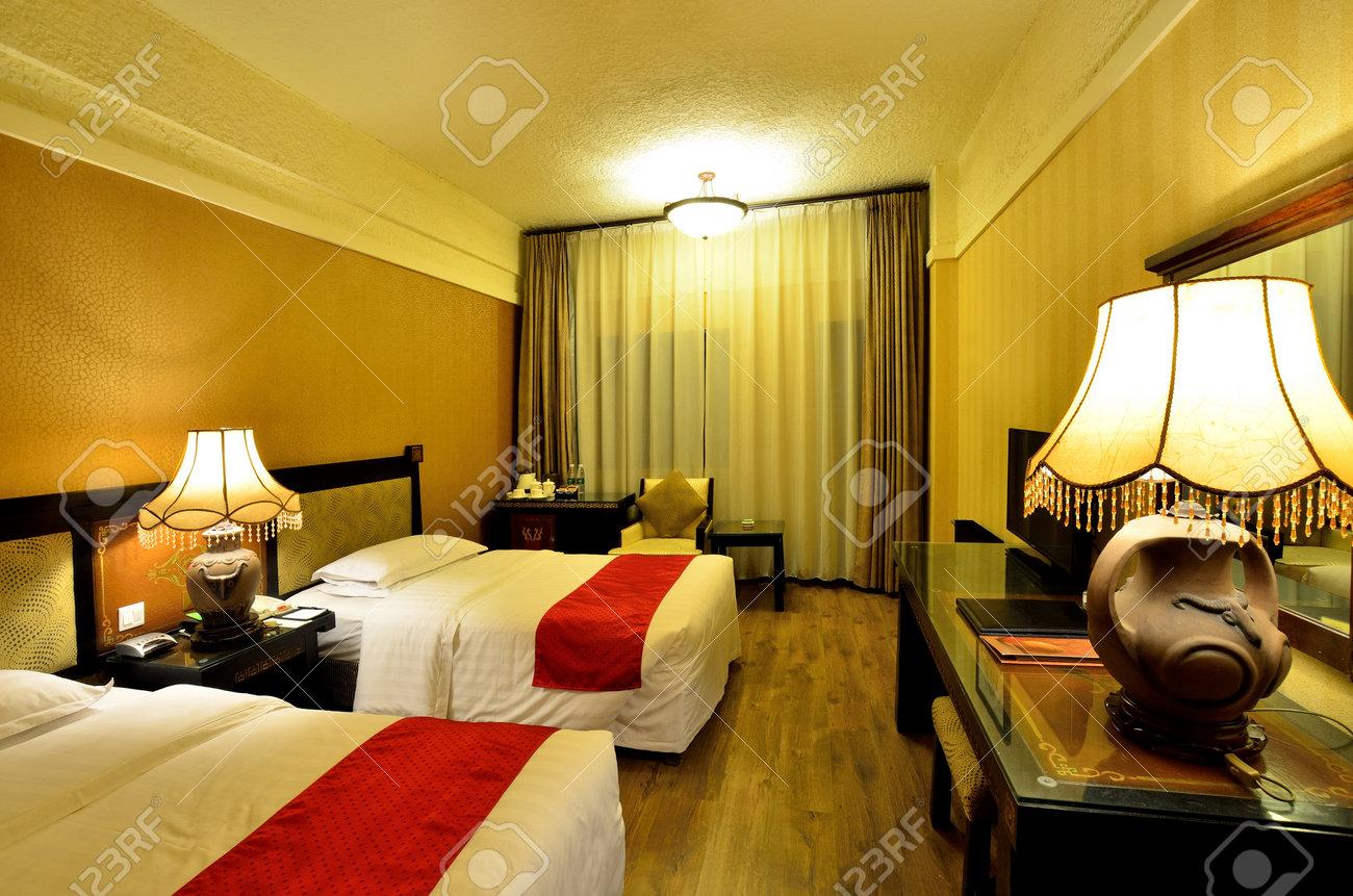 Intérieur de la chambre d'hôtel de luxe banque d'images et photos ...