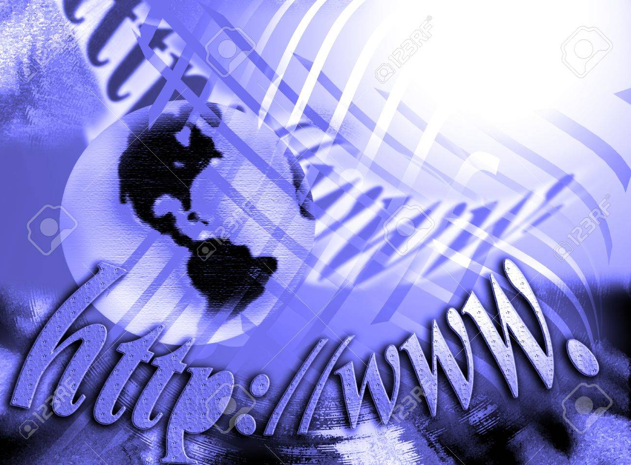 Screen internet, globalization, technology Stock Photo - 9639023