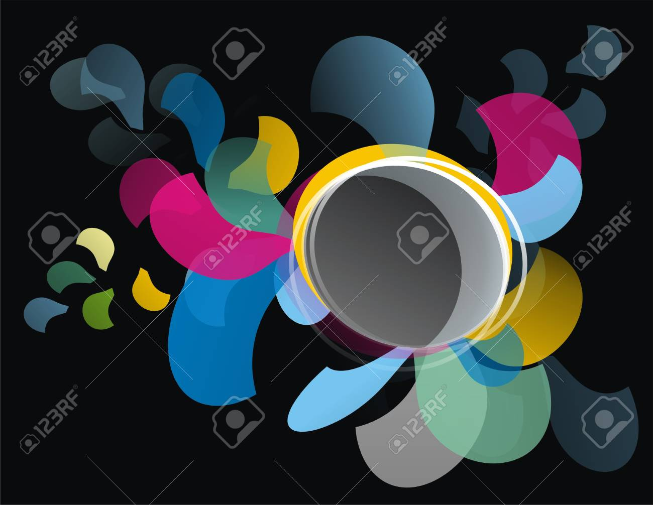 Abstract background on black Stock Photo - 13784885