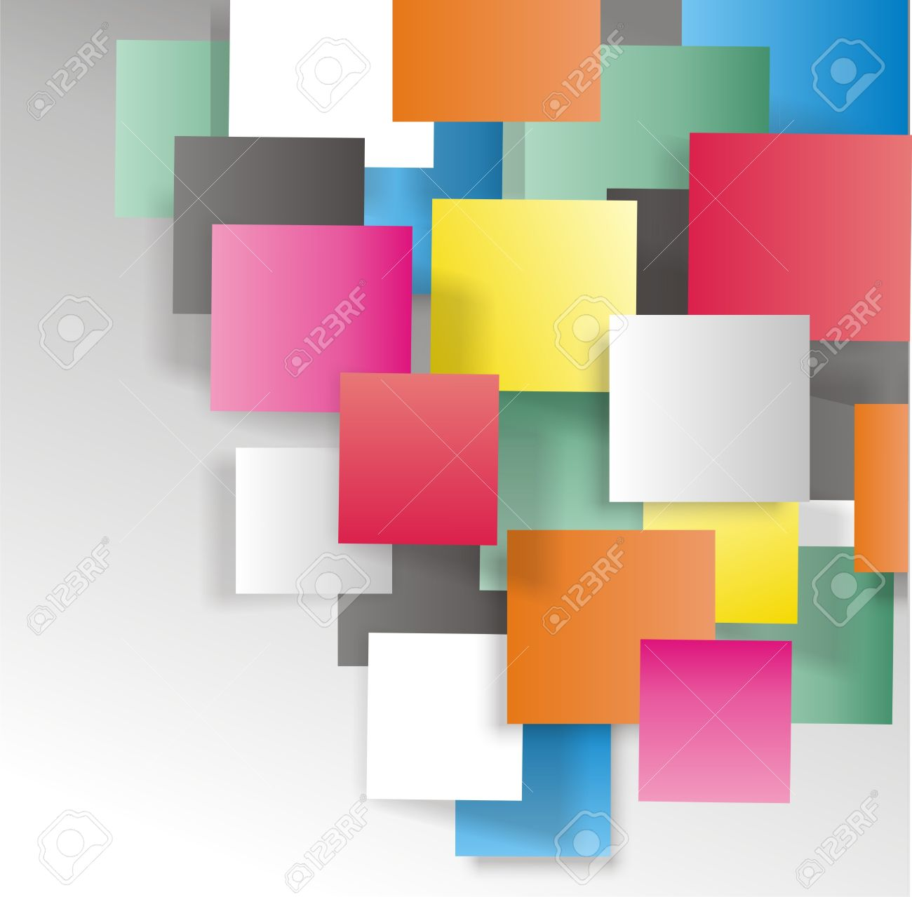 Beautiful background with frames in many colors 3d Stock Photo - 15647446