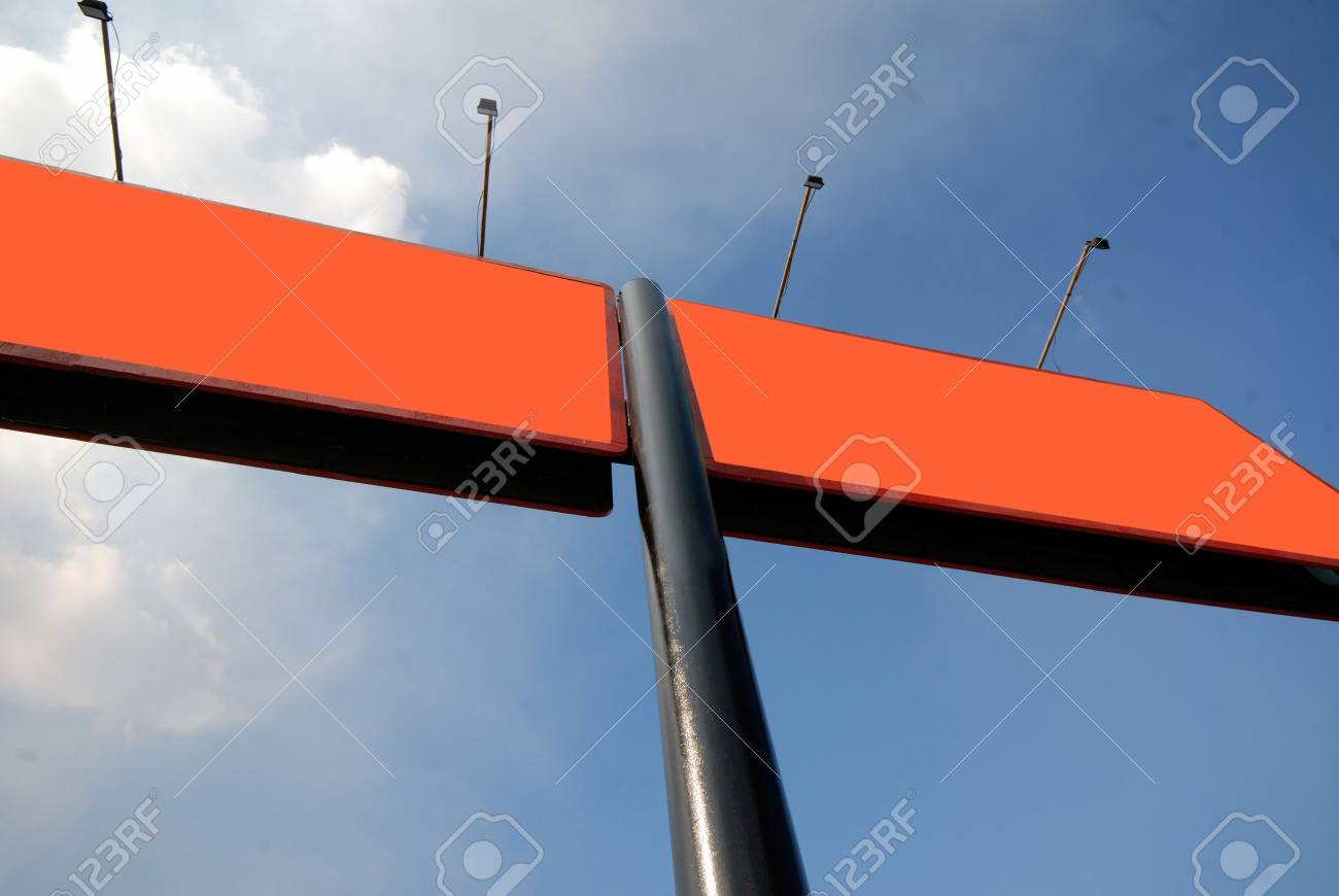 Pure publicity board on  background of  blue sky Stock Photo - 915928