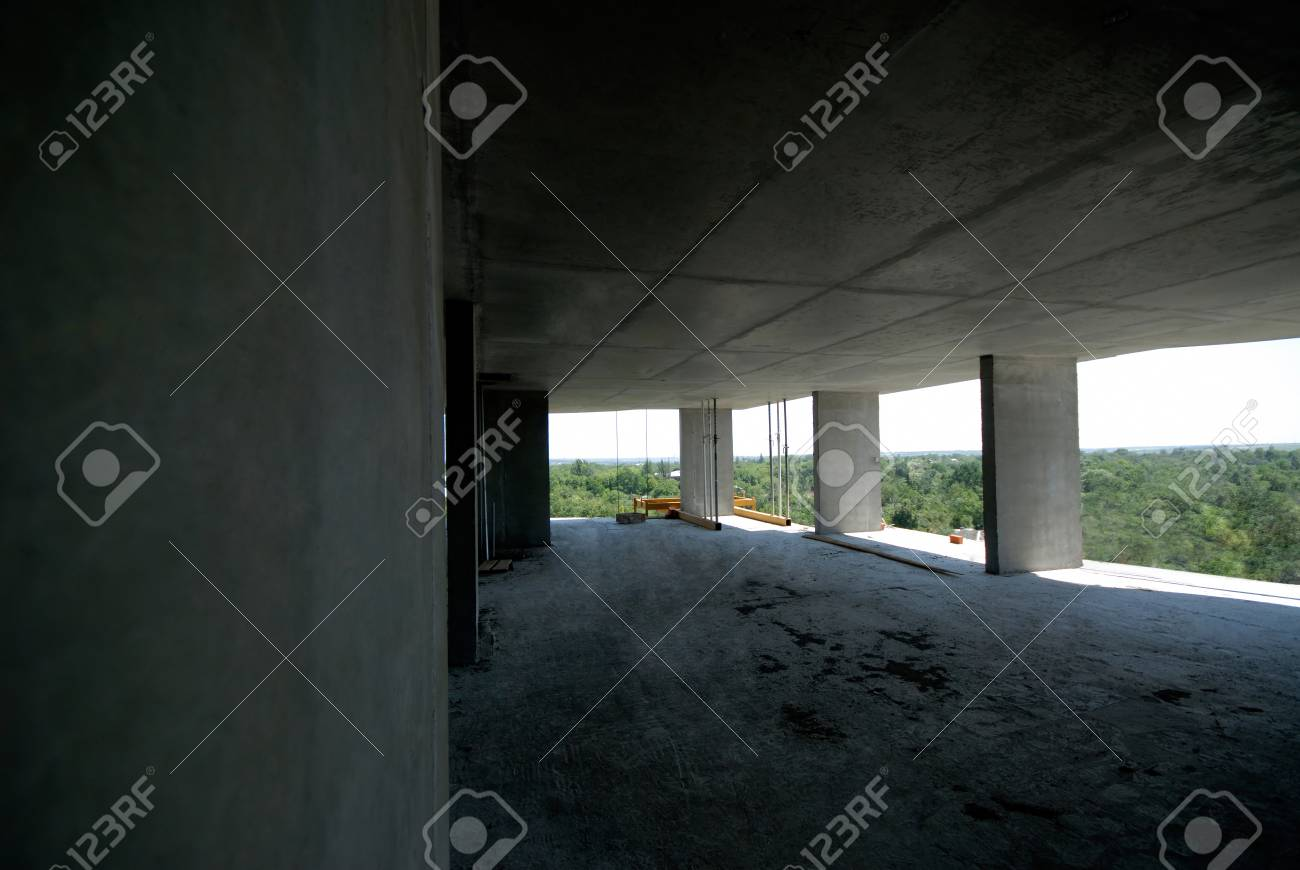 future floor of an apartment house, construction is conducted by  mobile timberline Stock Photo - 1716731