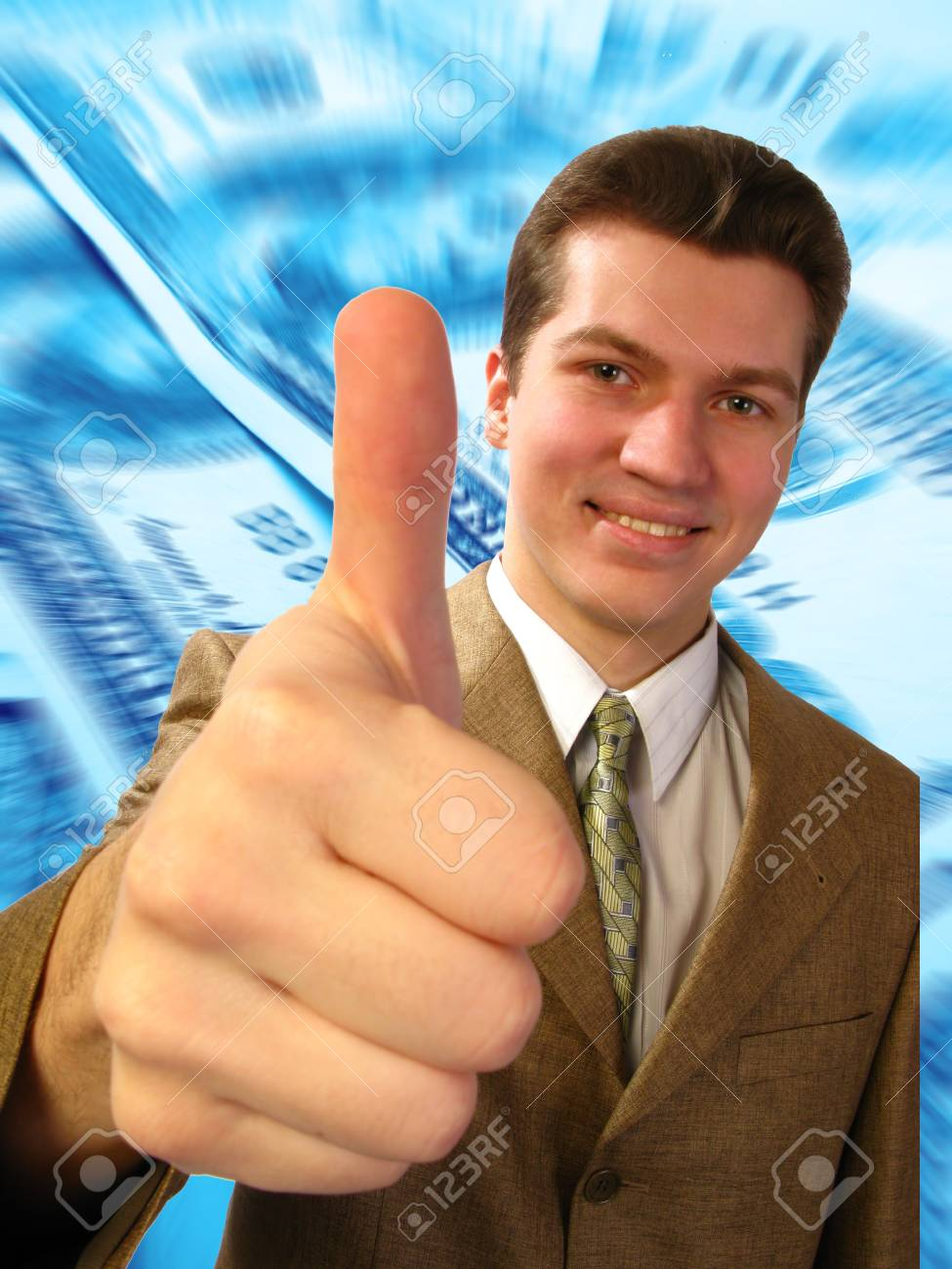 businessman shows the big finger Stock Photo - 2611512