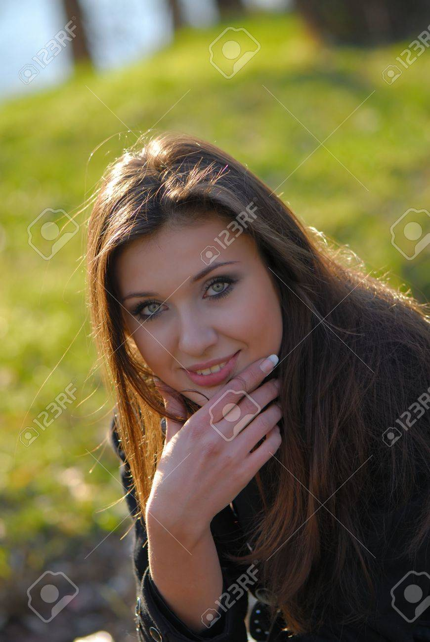 Portrait of  young nice girl at  daylight in natural conditions Stock Photo - 4446238