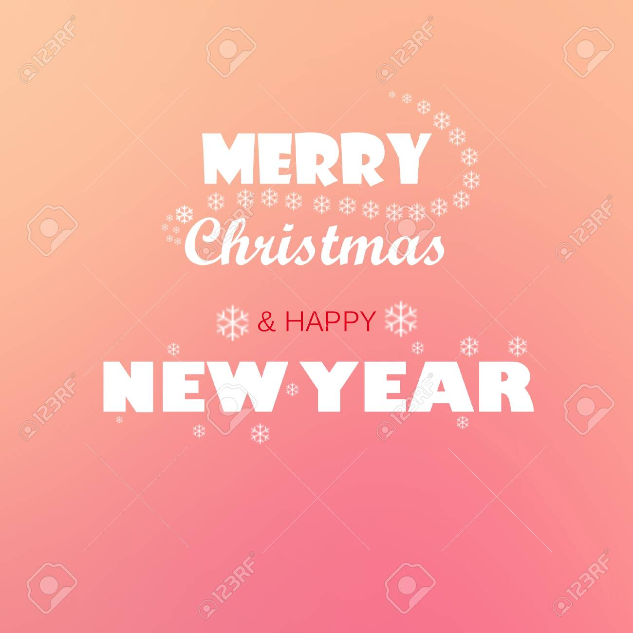 merry christmas and happy new year greetings slogan stock photo 33784734