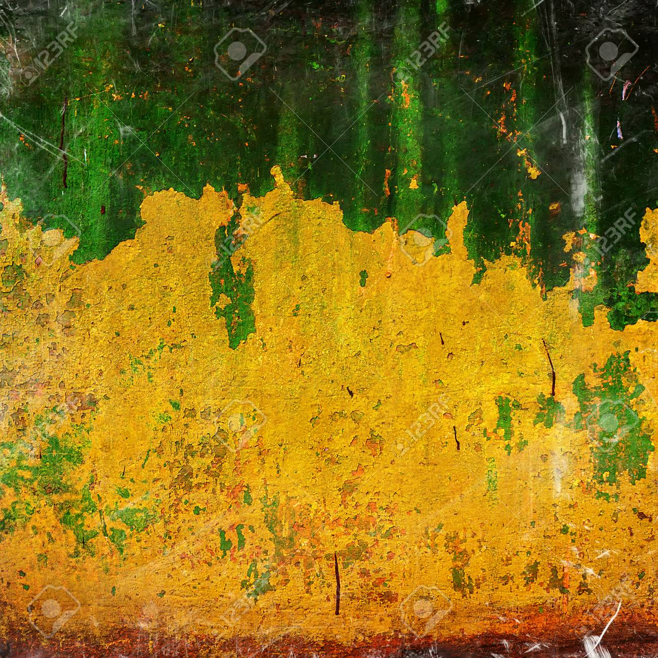 Peindre Sur De Vieux Croulants Murs De Plâtre Banque Dimages Et