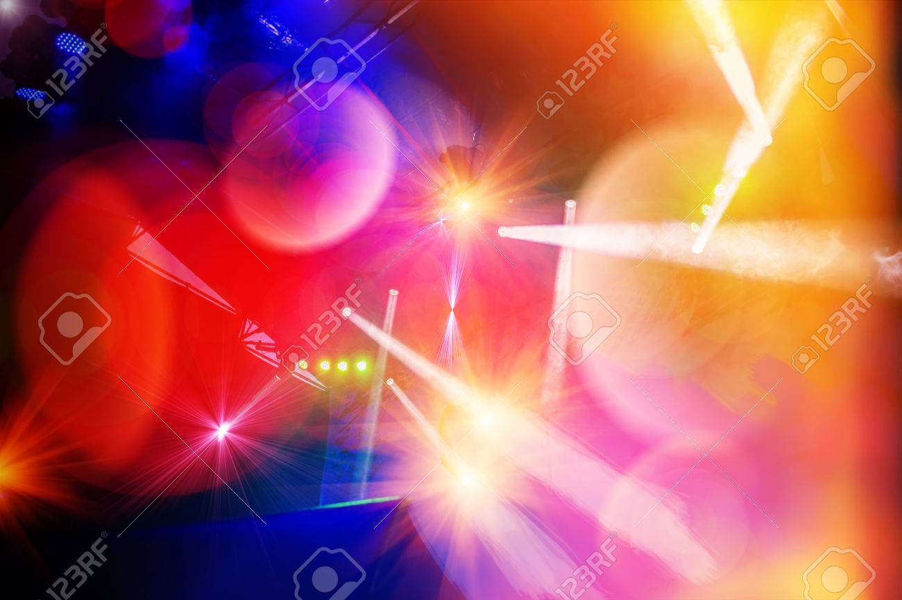 Blur The Background Concert Stage Lighting And Effects Stock Photo