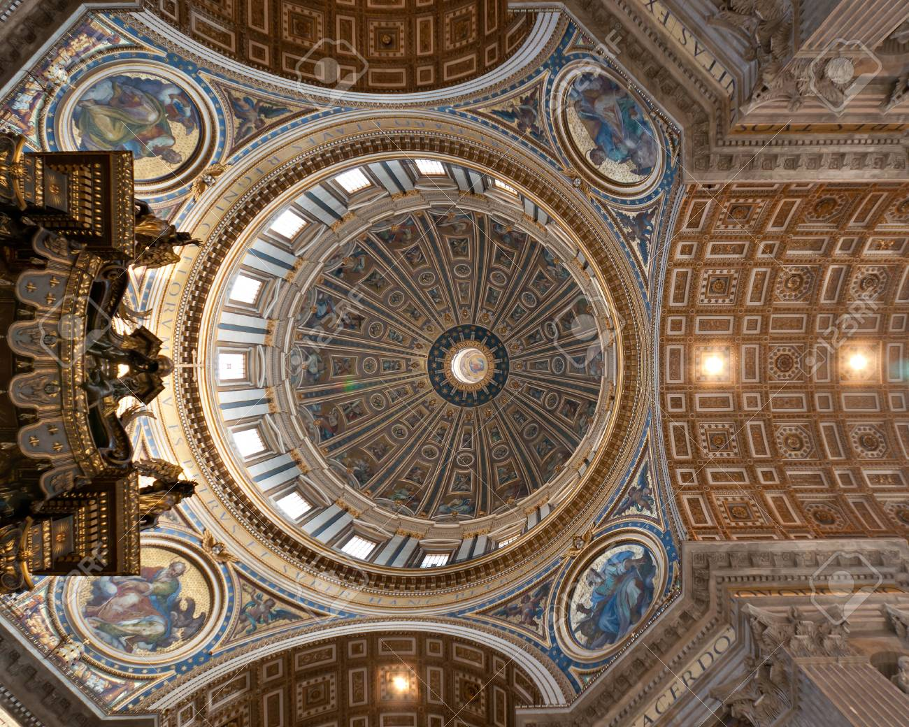 View at the ceil and cupola of the St Stock Photo - 11715837