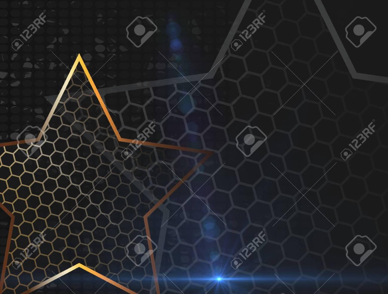 The Gold Stars For Web Background Design Modern Wallpaper Dark