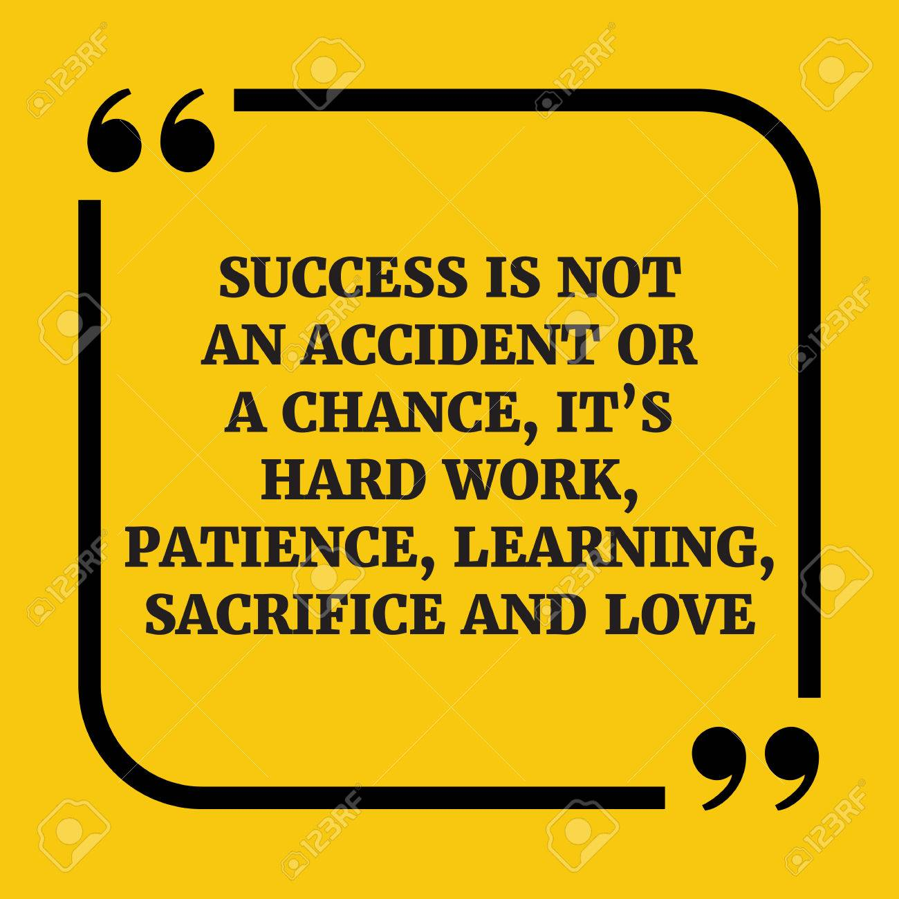 Motivational Quote Success Is Not An Accident Or A Chance Its