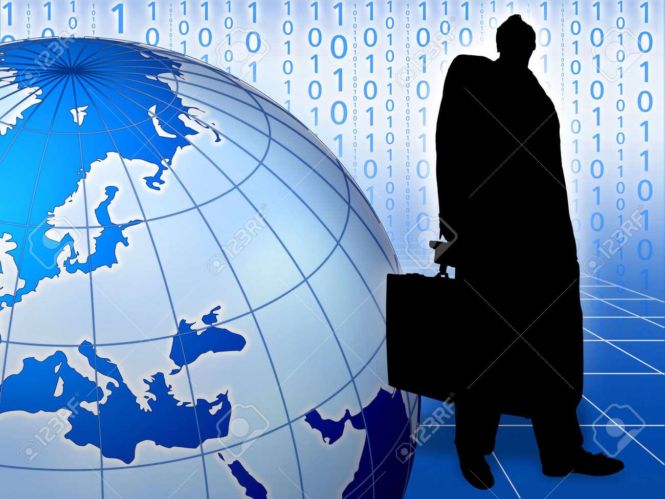 Conceptual image depicting world trade Big boss. World business. Stock Photo - 2954339