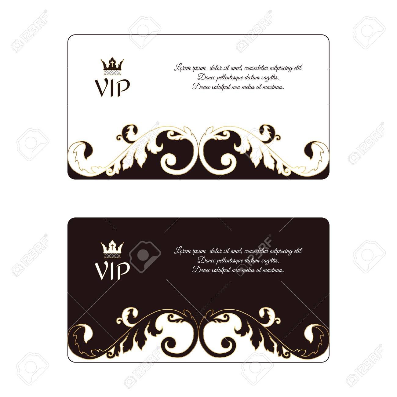 Elegant Style Business Cards Vector Choice Image - Card Design And ...