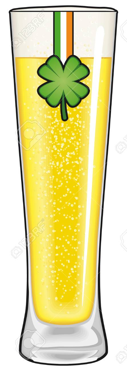 St. Patrick's day beer glass isolated Stock Vector - 7924267