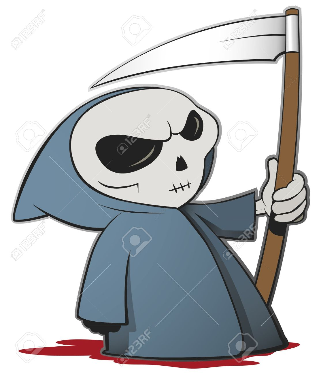 Grim reaper cartoon character isolated Stock Vector - 10561923