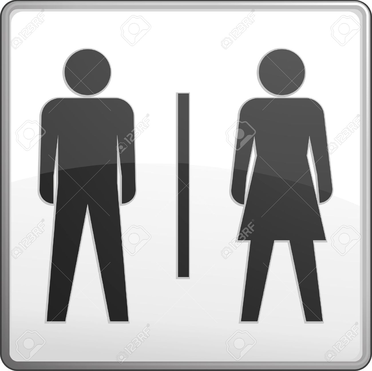 Bathroom Signs Vector male and female bathroom symbols | getpaidforphotos