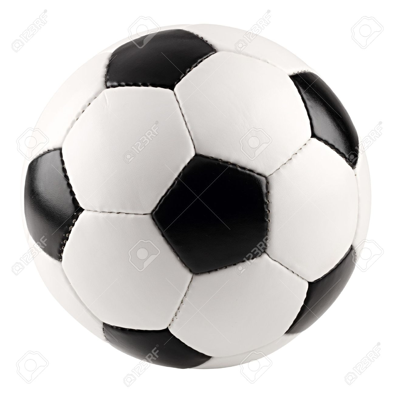 a classic black white soccer ball on white background Stock Photo - 11933351