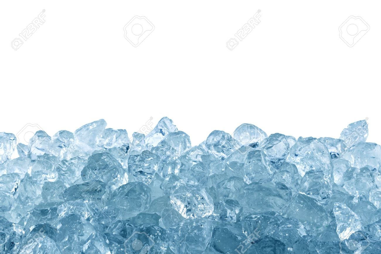 crushed ice in front of white background Stock Photo - 19322033