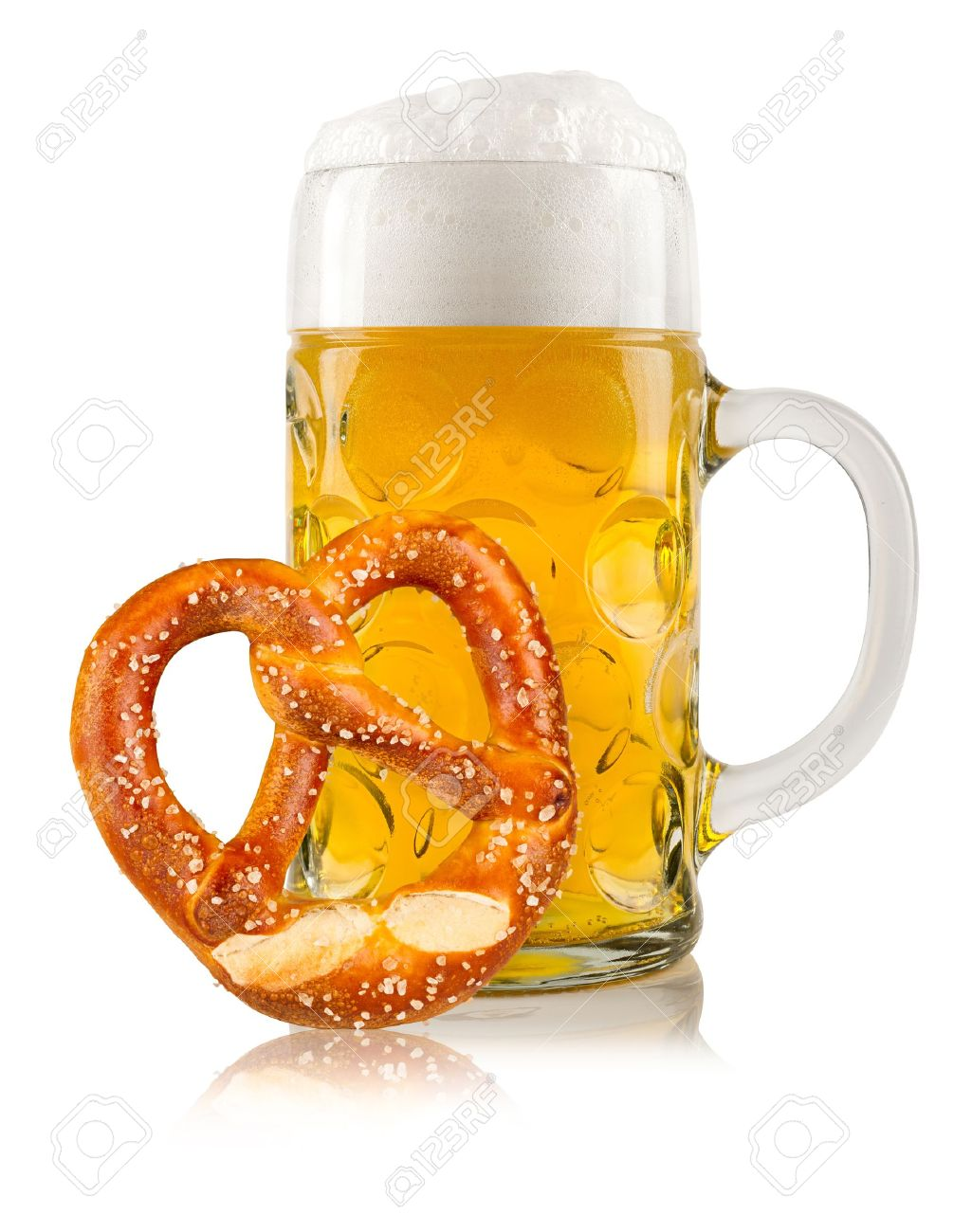 beer mug with german pretzel Stock Photo - 19322367
