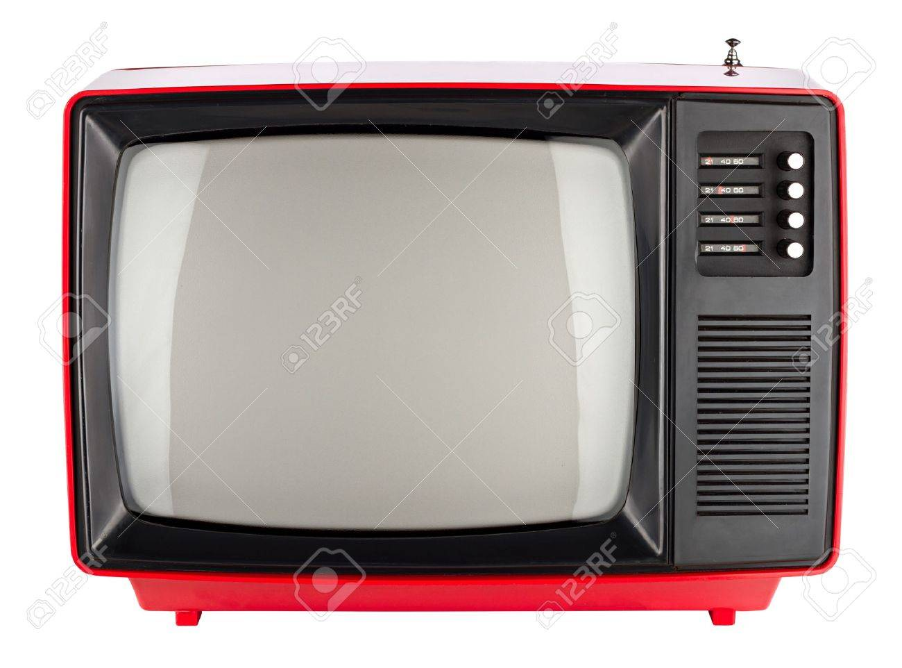 old red retro TV Stock Photo - 19322294