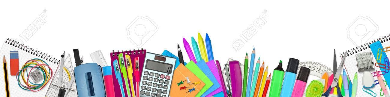 school / office supplies on white background - 44150951