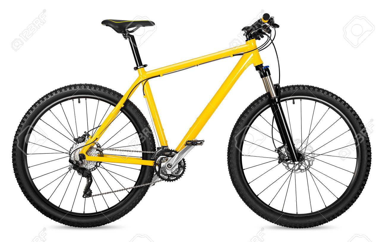 yellow 29er mountain bike isolated on white background - 54719071