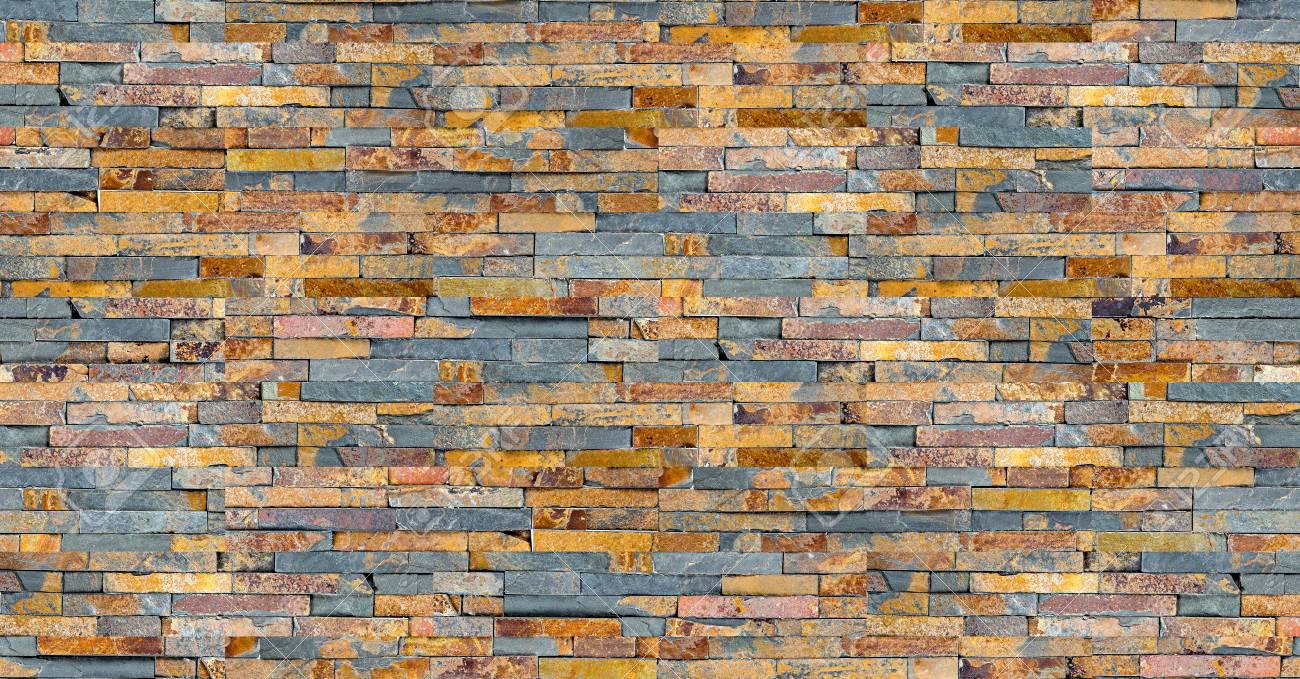 Seamless Colorful Slate Stone Rock Wall Texture Modern Design
