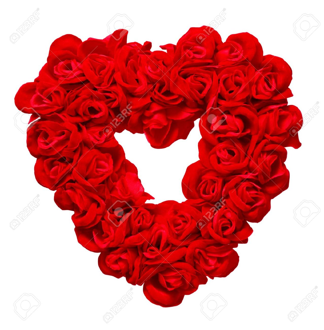 Valentines Day Rose Heart On White Background Stock Photo Picture