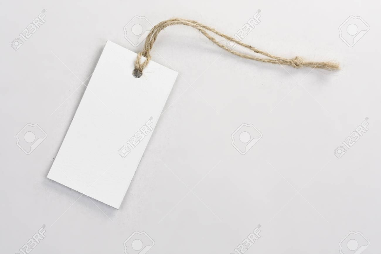 blank tag label, in gray background Stock Photo - 8306540