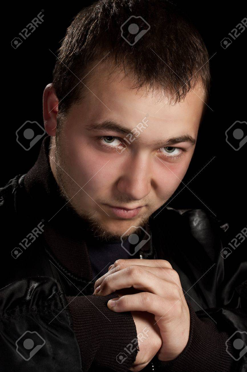 Teenager in boxer pose, in black background Stock Photo - 10225586