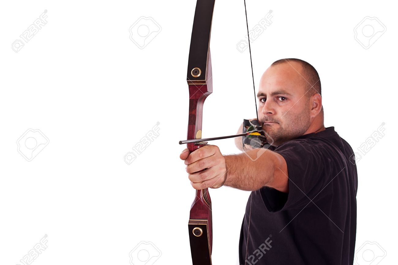 Woman shooting Horse Bow Stock Photo, Royalty Free Image ...