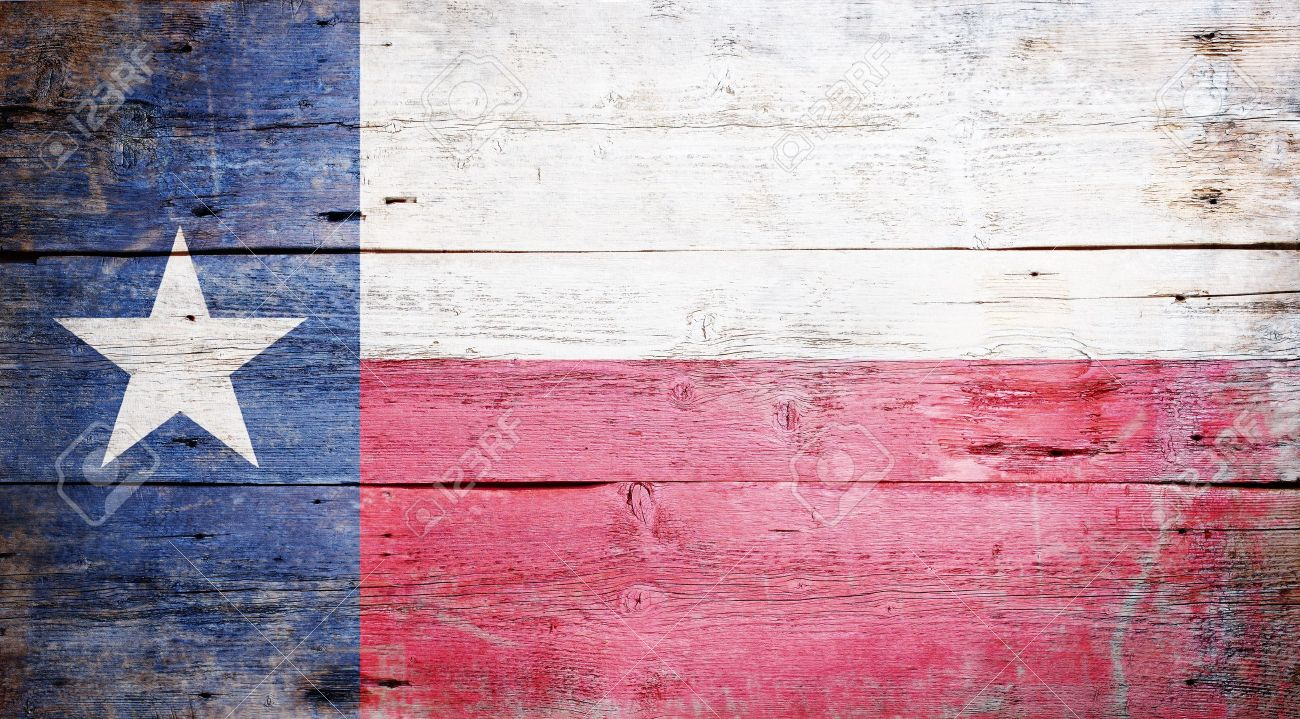 Flag of the State of Texas painted on grungy wooden background Stock Photo - 17787757