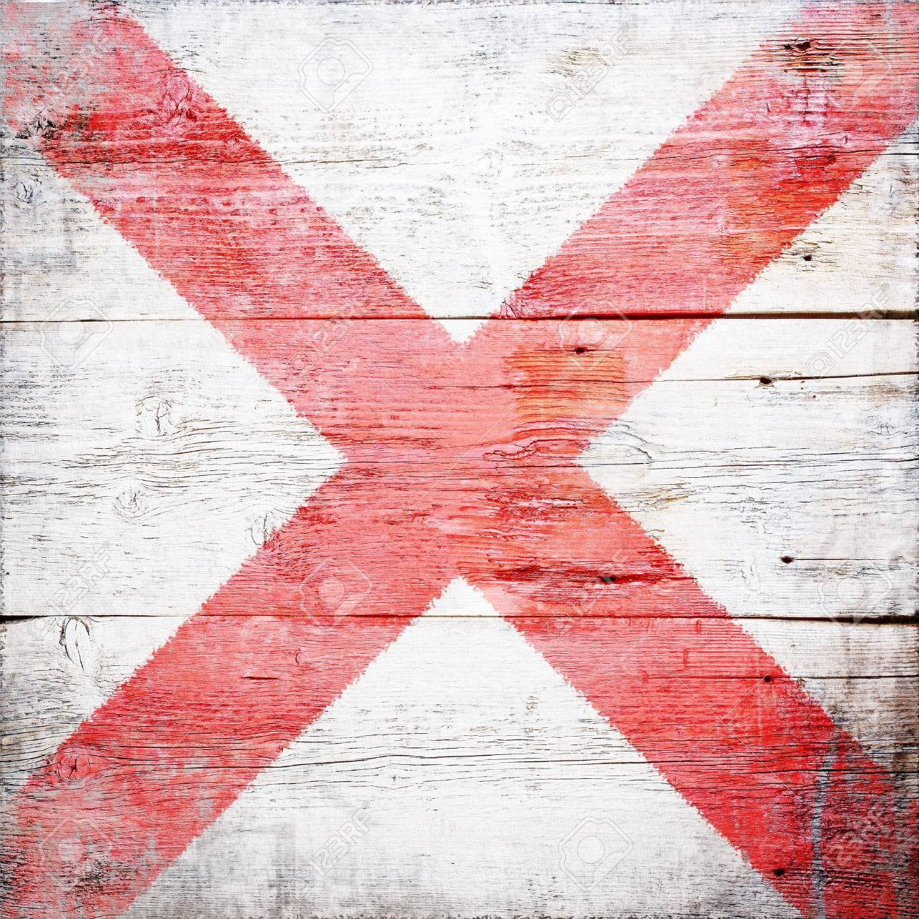 Victor, international maritime signal flag painted on grungy wood plank background Stock Photo - 18147885