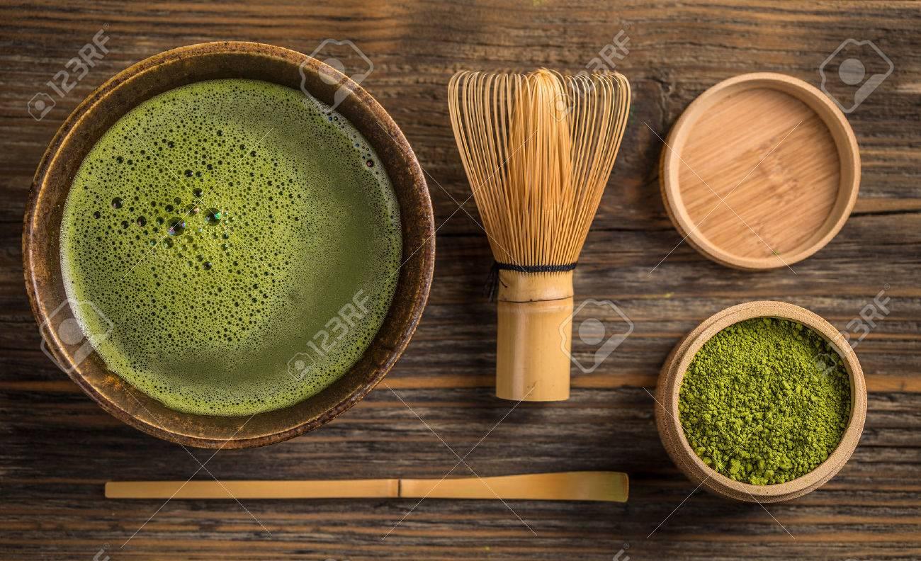 Grüner tee matcha