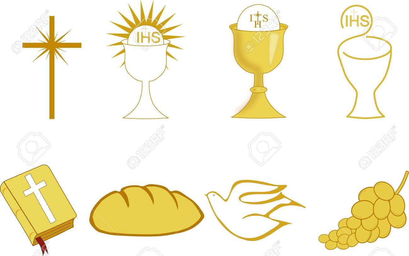 Golden symbols of christianity royalty free cliparts vectors and golden symbols of christianity stock vector 9465262 biocorpaavc Choice Image