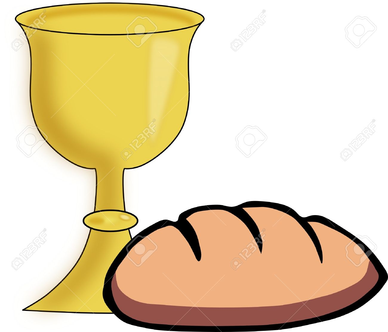 bread and chalice royalty free cliparts vectors and stock rh 123rf com clipart chalice with host clipart chalice with host