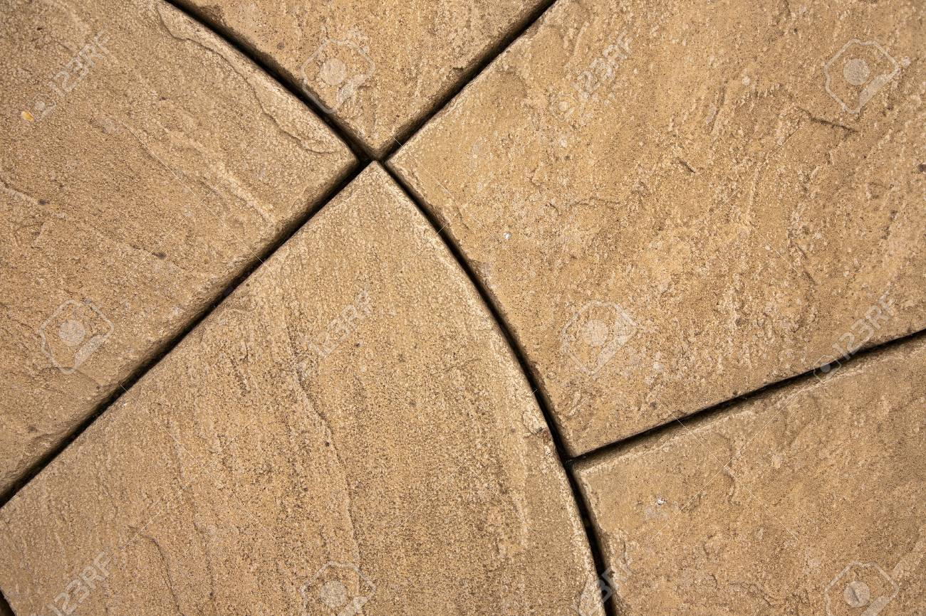 Section Of A Decorative Stone Paving Design