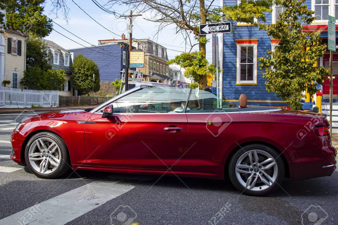 Annapolis Md 08 21 2020 A Brand New Red Audi A5 Convertible Stock Photo Picture And Royalty Free Image Image 154376321
