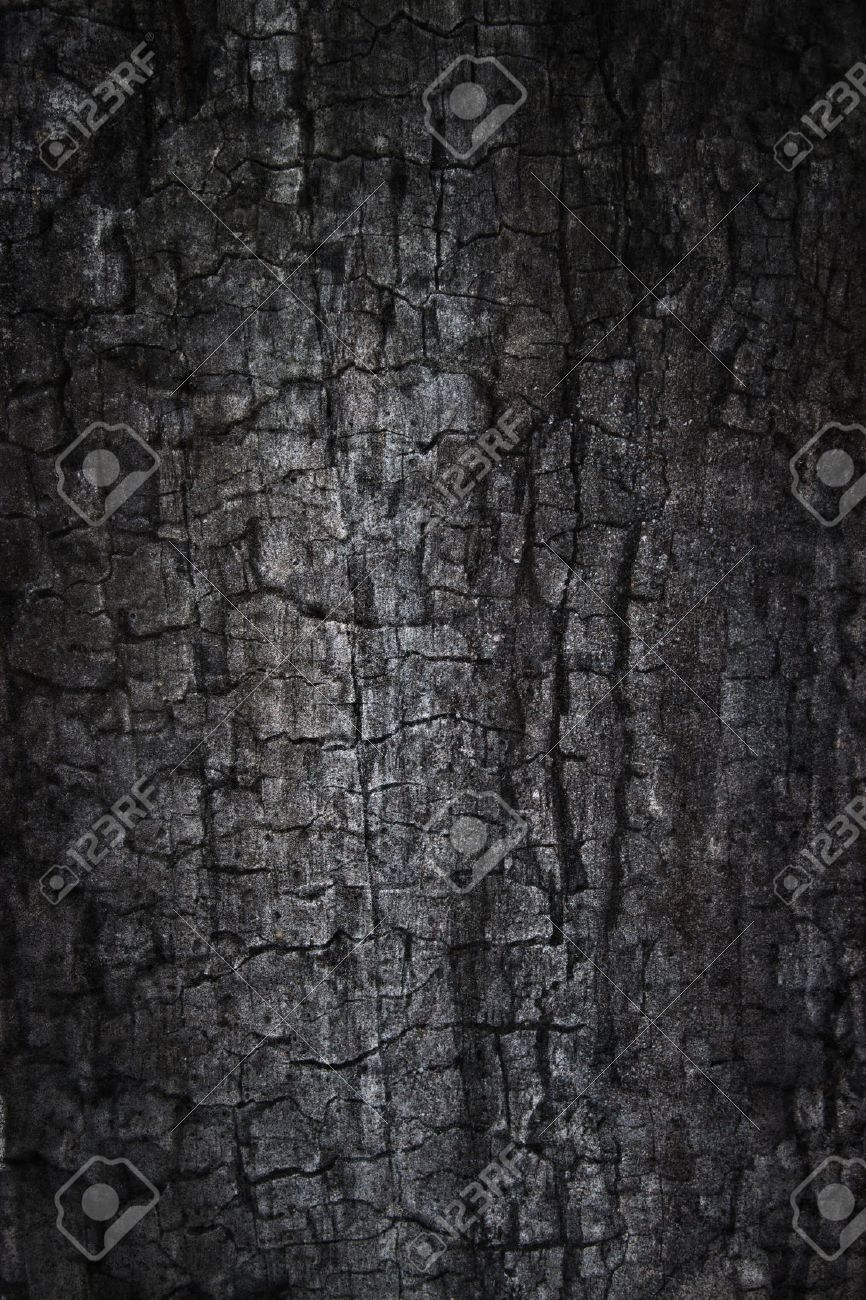 Burnt grunge background Composite photo of burnt wood and concrete textures - 44697593